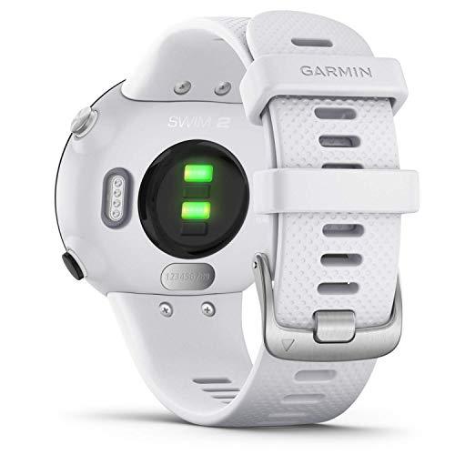Garmin Swim 2 GPS-Schwimmuhr mit Herzfrequenzmessung unter Wasser und speziellen Schwimmfunktionen, Schwimmbad-/Freiwasser-Modus, GLONASS, GALILEO, Sport-Apps, 7 Tage Akkulaufzeit, Weiß/Grau - 6