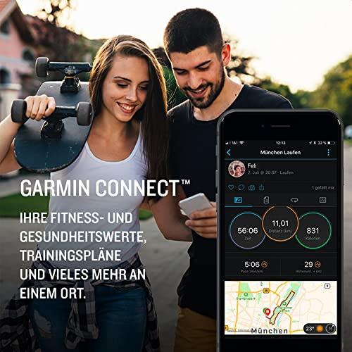 """Garmin fenix 6S Solar – schlanke GPS-Multisport-Smartwatch mit Solar-Ladefunktion für bis zu 10 Tage Akku. 1,2"""" Display für schmale Handgelenke, mit vorinstallierten Sport-Apps, robust und wasserdicht - 2"""