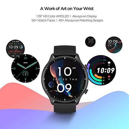 Amazfit GTR 2 Smartwatch mit Bluetooth-Anruf, Sportuhr mit 90 Sportmodi, Fitness Tracker mit Blutsauerstoffsättigungsmesser, 3GB Musikspeicher für Herren Damen - 4