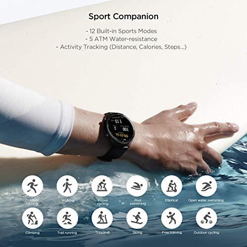 Amazfit GTR 2 Smartwatch mit Bluetooth-Anruf, Sportuhr mit 90 Sportmodi, Fitness Tracker mit Blutsauerstoffsättigungsmesser, 3GB Musikspeicher für Herren Damen - 5